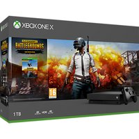 'Microsoft Xbox One X Console, 1tb, With Wireless Controller, Black And Playerunknown's Battlegrounds Game Bundle