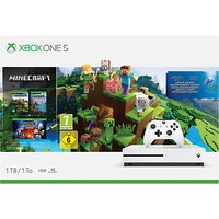 Microsoft Xbox One S Console, 1TB, with Wireless Controller and Minecraft Bundle