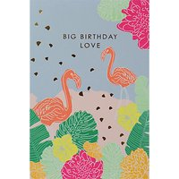 Paperlink Flamingo Birthday Card