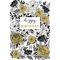 Woodmansterne Fabulous Floral Birthday Card