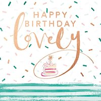 Cardmix Lovely Birthday Greetings Card