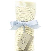 John Lewis & Partners Baby GOTS Organic Cotton Cellular Pram Blanket, 100 x 75cm, Natural