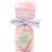 John Lewis & Partners Baby GOTS Organic Cotton Cellular Pram Blanket, 100 x 75cm, Pink