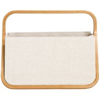 Prym Fold and Store Canvas Sewing Basket, Neutral