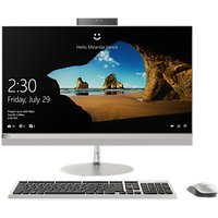 "Lenovo 520-27ICB All-in-One Desktop PC, Intel Core i7, 8GB RAM, 2TB HDD + 256GB SSD, 27"" WQHD, Silver"