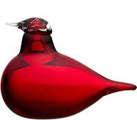 Iittala Toikka Little Tern Glass Bird, Cranberry