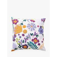 Anthropologie Ollie Flower Cushion, Multi