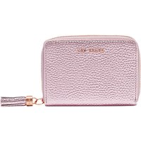 Ted Baker Verity Metallic Small Leather Zip Around Matinee Purse, Pink