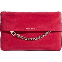 Karen Millen Chain Detail Leather Clutch Bag