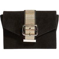 Karen Millen Buckle Envelope Clutch Bag, Black