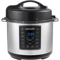 Crock-Pot CSC051 Express Pressure and Slow Cooker, 5.6L, Silver