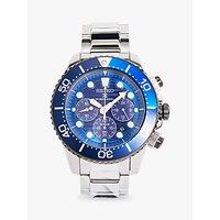 Seiko SSC675P1 Mens Prospex Automatic Chronograph Date Bracelet Strap Watch, Silver/Blue