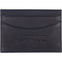 Barbour Leather Card Holder, Navy