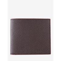 Barbour Grain Billfold Wallet, Dark Brown