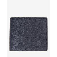 Barbour Grain Leather Coin Wallet, Black