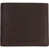 Barbour Leather Coin Wallet, Dark Brown