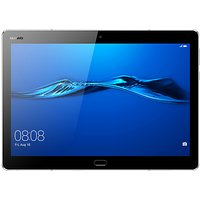 "Huawei MediaPad M3 10 Lite Tablet, Android, Qualcomm MSM8940, 3GB RAM, 32GB eMMC, 10.1"", Grey"