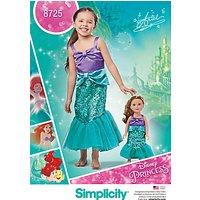 Simplicity Little Mermaid Ariel Sewing Pattern, 8725