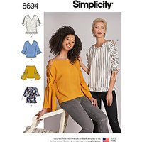 Simplicity Misses' Tops Sewing Pattern, 8694