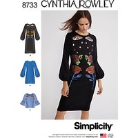 Simplicity Cynthia Rowley Dress Top Sewing Pattern, 8733
