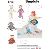 Simplicity Babies' Costumes Sewing Pattern 8776, XS-L