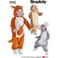 Simplicity Toddlers' Costumes Sewing Pattern, 8765, 6 months-4 years