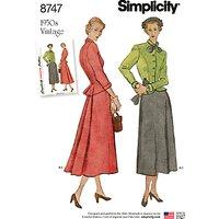 Simplicity Misses' 1950's Vintage Suit Sewing Pattern, 8747
