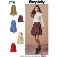 Simplicity Misses Wrap Skirts Sewing Pattern, 8746