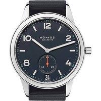 NOMOS Glashütte 776 Unisex Club Automatic Date Fabric Strap Watch, Navy