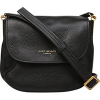 Kurt Geiger Small Emma Saddle Handbag, Black