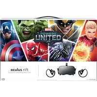 Oculus Rift Virtual Reality Headset with Touch Controllers + 2 Sensors and MARVEL Powers United VR Special Edition Bundle