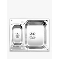 Blanco Tipo 6 Dual 1.5 Bowl Inset Kitchen Sink, Stainless Steel