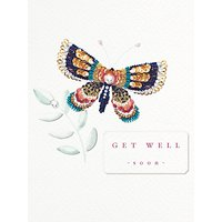 Woodmansterne Get Well Soon Butterfly Card