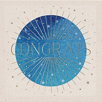 Ling Design Shining Star Congratulations Card