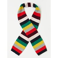 John Lewis & Partners Children's Christmas Cashmere Stripe Scarf, Multi