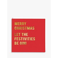 Redback Cards Let The Festivities Be Gin Christmas Card