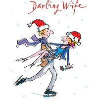 'Woodmansterne Head Over Heels Wife Christmas Card