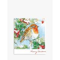 Woodmansterne Frosty Branch Christmas Card