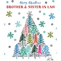 Woodmansterne Brother & Sister-in-Law Christmas Tree Christmas Card