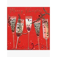 Belly Button Designs Glasses Christmas Card