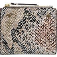 Radley Clifton Hall Small Leather Purse, Animal Print Black