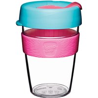 KeepCup Original Reusable 12oz Coffee Cup/Travel Mug, 340ml, Radiant/Clear