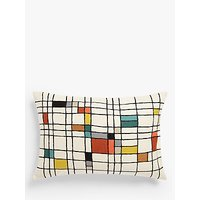 John Lewis & Partners Isak Grid Rectangular Cushion, Multi