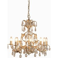 John Lewis and Partners Estabel Chandelier Ceiling Light, Cream