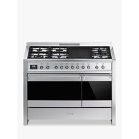 Smeg A3-81 Opera Dual Fuel Range Cooker, Stainless Steel