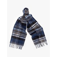 Barbour Land Rover Defender Lambswool Cashmere Plaid Scarf, Green/blue