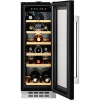 AEG SWE63001DG 20 Bottle Wine Cooler, Black