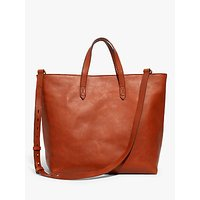 Madewell Leather Transport Zip Top Carryall Tote Bag
