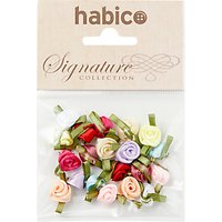 Habico Small Ribbon Roses, Pack of 20