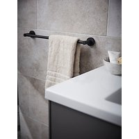 Miller Bond Single Towel Rail, Black